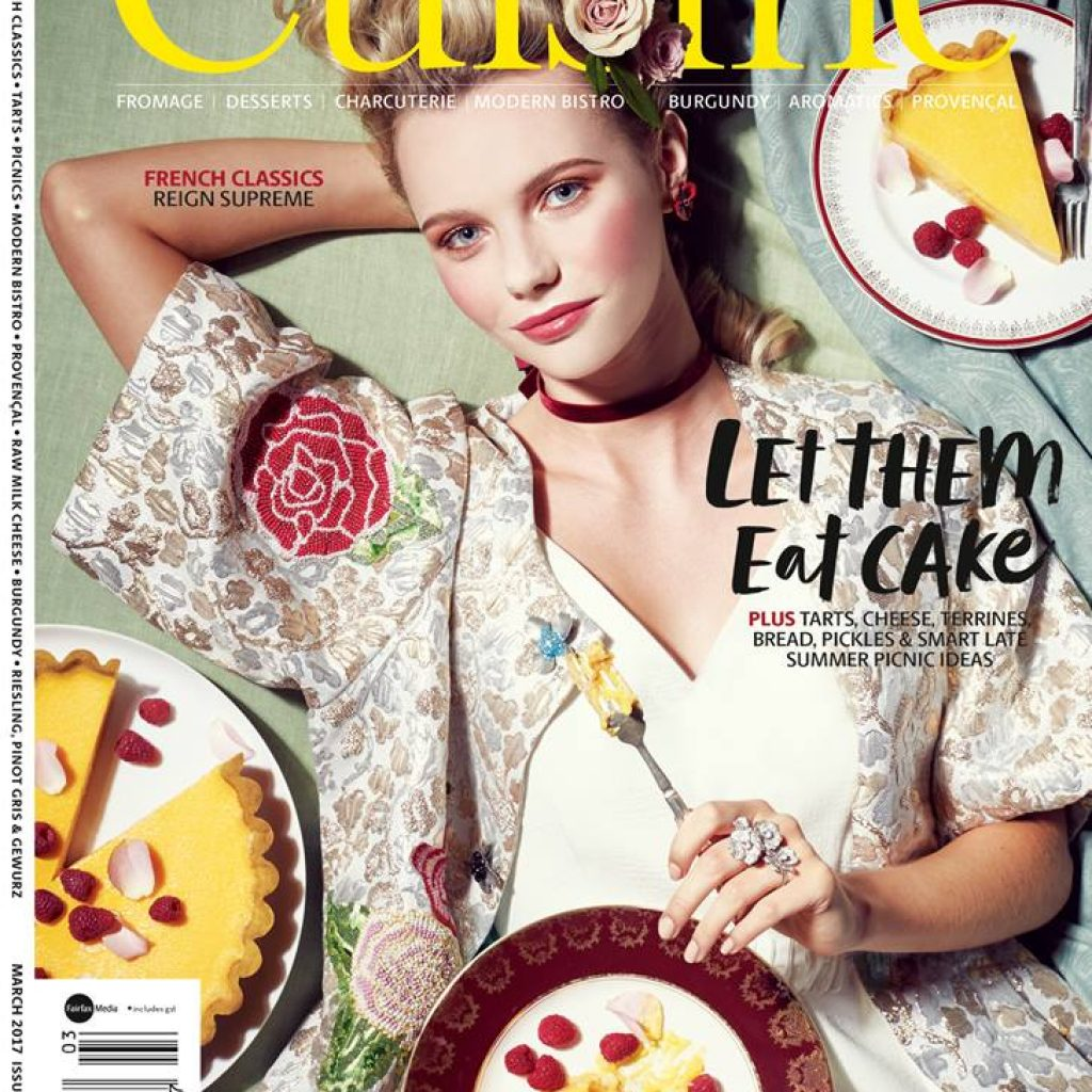 Carla photographed by Stephen Tilley for the Cover of Cuisine Magazine, Mua: Josie Wignall using MAC Cosmetics