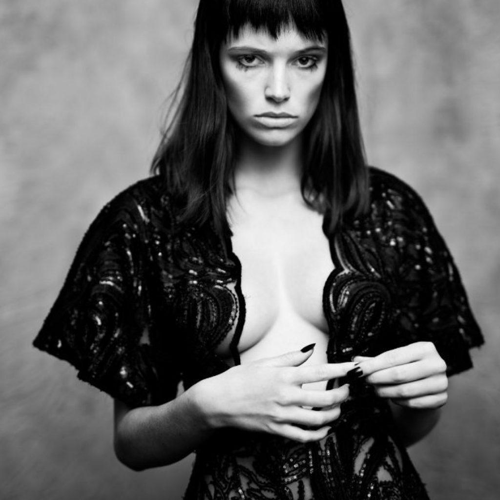 Erin & Polly photographed for #BLKONBLK12 by Charles Howells , Fashion: Rachael Churchward ; Hair Greg Murrell at Ryder Salon; Mua Sharlene Cassidy