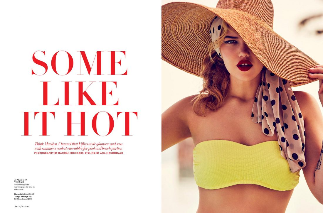 Susanna photographed by Hannah Richards for Mindfood Style Magazine: Fashion: Ana MacDonald