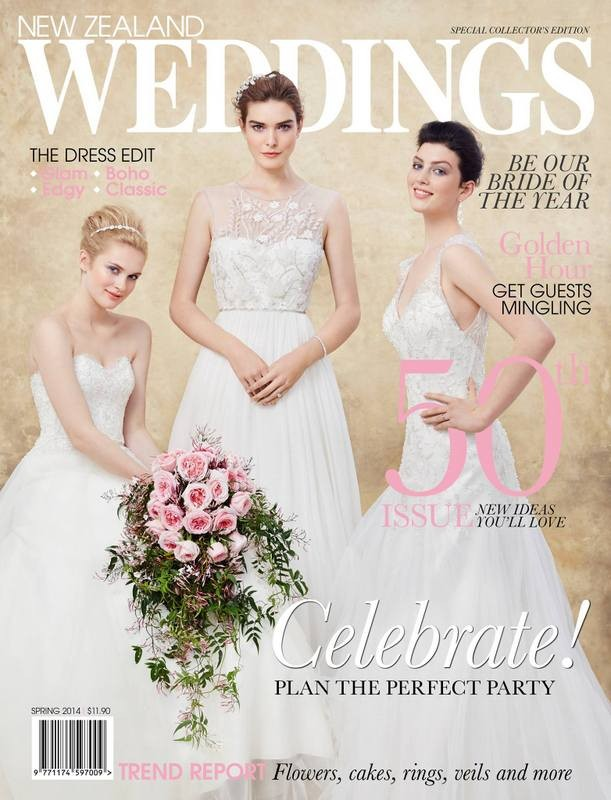 Phoebe for NZ Weddings Magazine shot by Carolyn Haslett