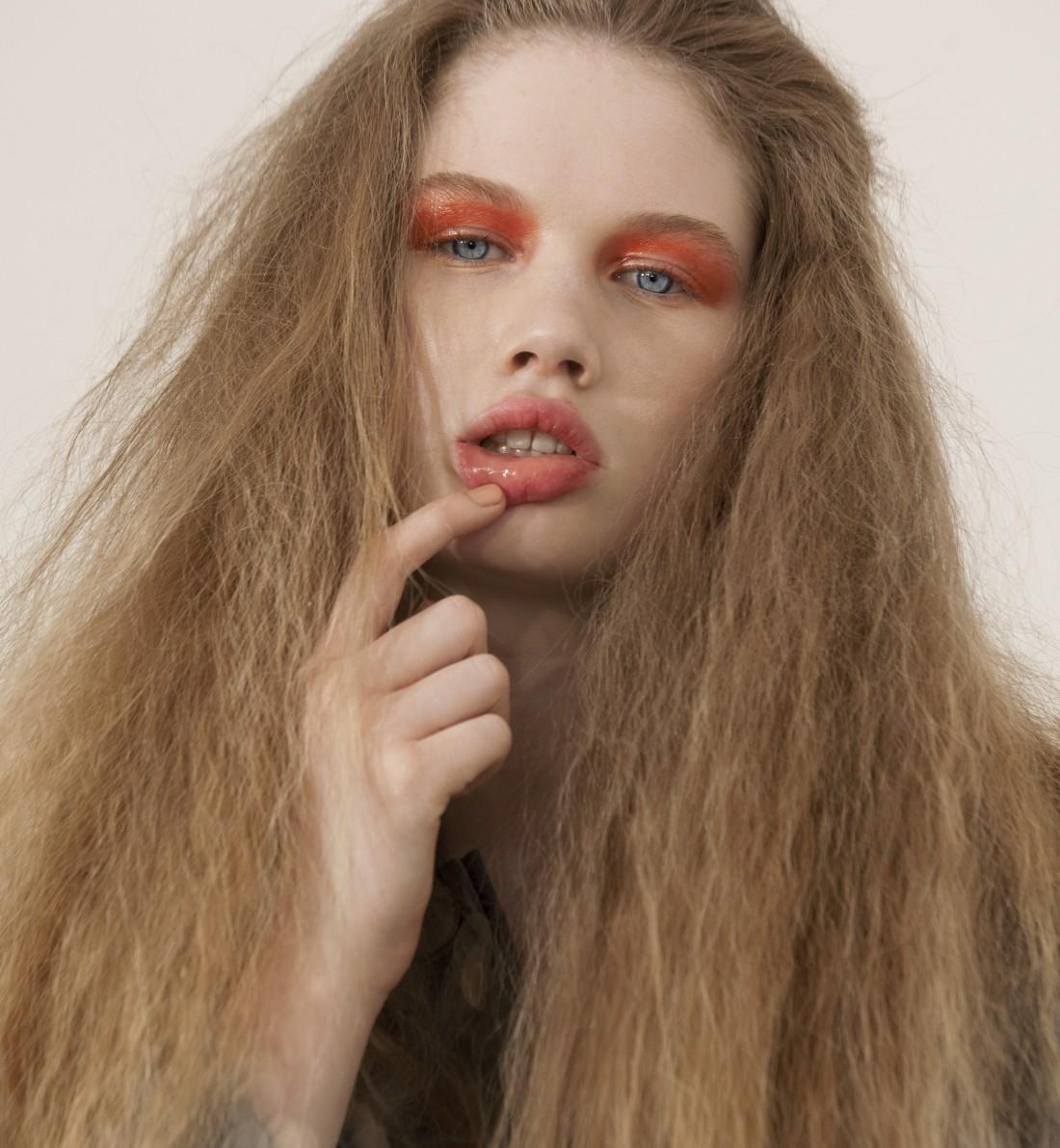 Milly photographed by Karen Inderbitzen Waller & Delphine Avril Planqueel for Black Magazine, Hair by Matt Benns, MUA by Lochlain Stonehouse