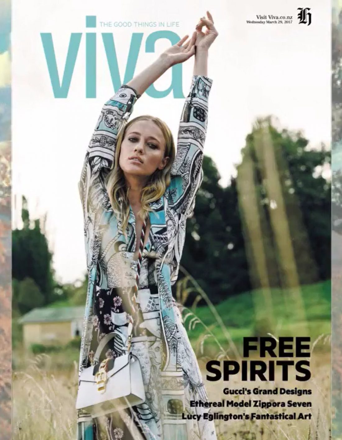Zippora photographed by Tom Gould for Cover of Viva magazine wearing Gucci : Styled by Dan Ahwa; Mua: Kiekie Stanners