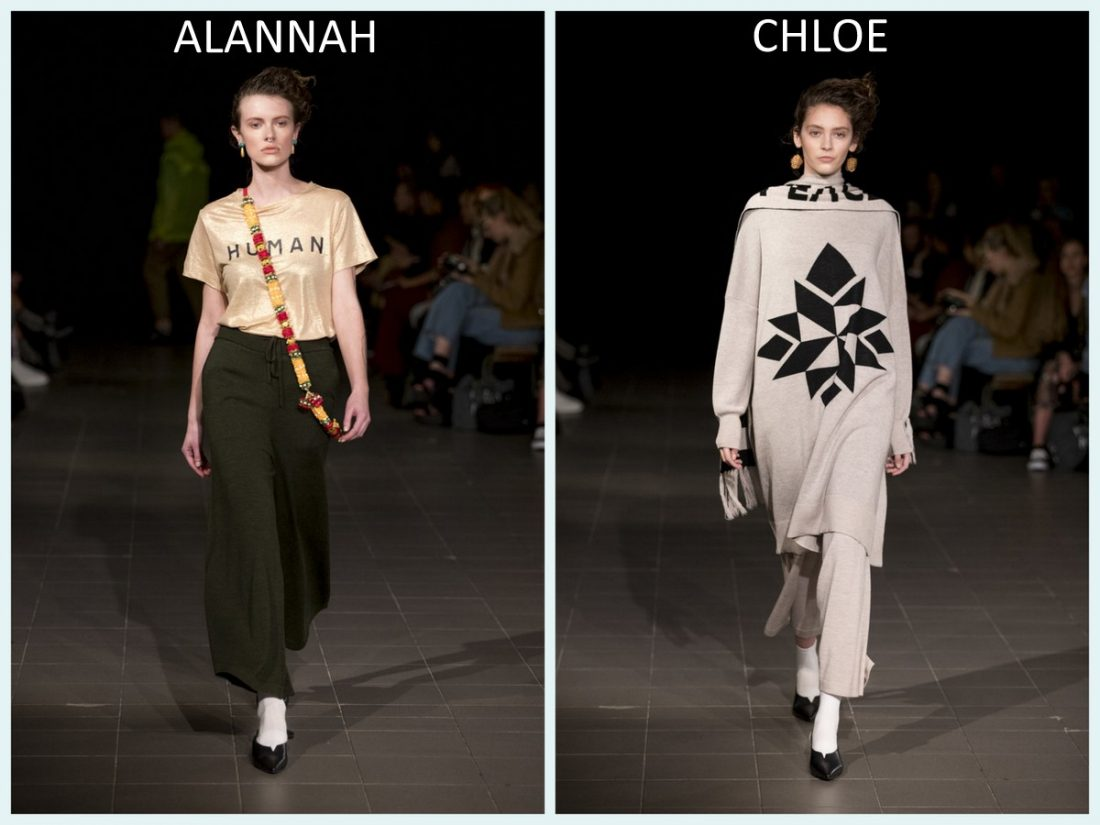 Alannah, Lily, Dani, Polly, Chloe for Salasai's NZFW Show