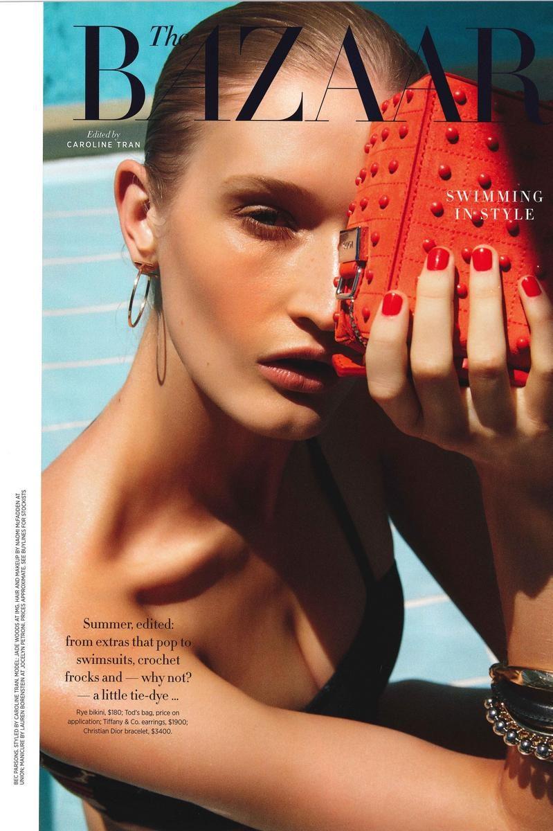 Jade photographed for Harpers Bazaar