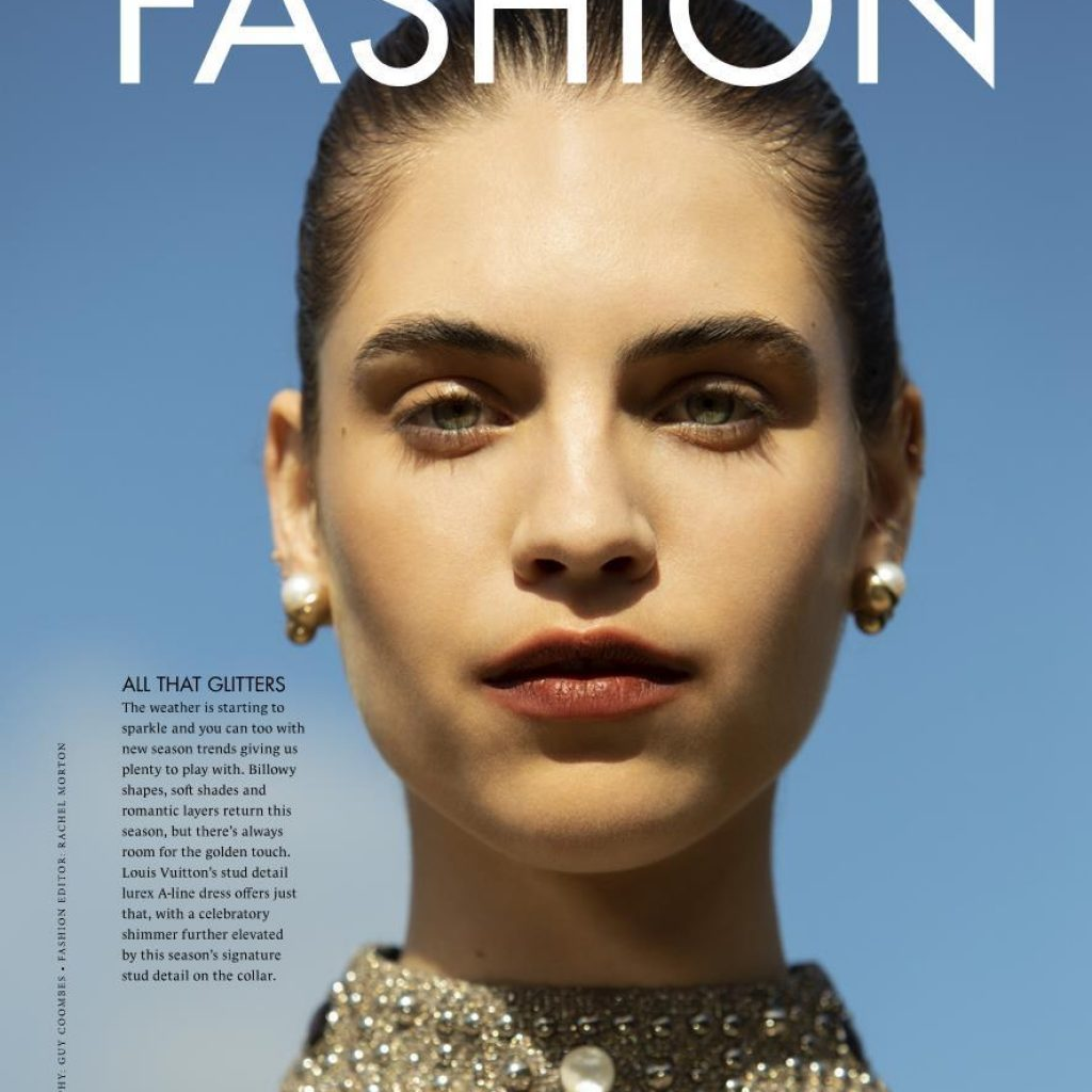 Bernie photographed by Guy Coombes for Style Magazine: Fashion Editor: Rachel J. Morton; H/Mu: Leisa Welch