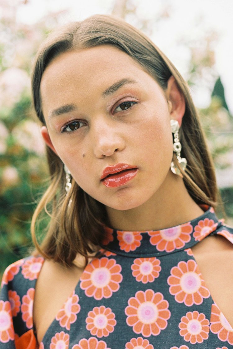Rose photographed by Nicole Brannen for Sauce Magazine, styling by @lucyjanehopkins and beauty looks by @kathgould_makeup