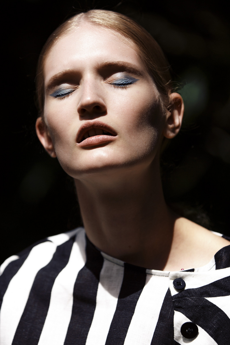 Jade photographed by Carolyn Haslett for BLKONBLK #5 Fashion Editor: Ethan Butler Make-up assist: Phoebe Watt