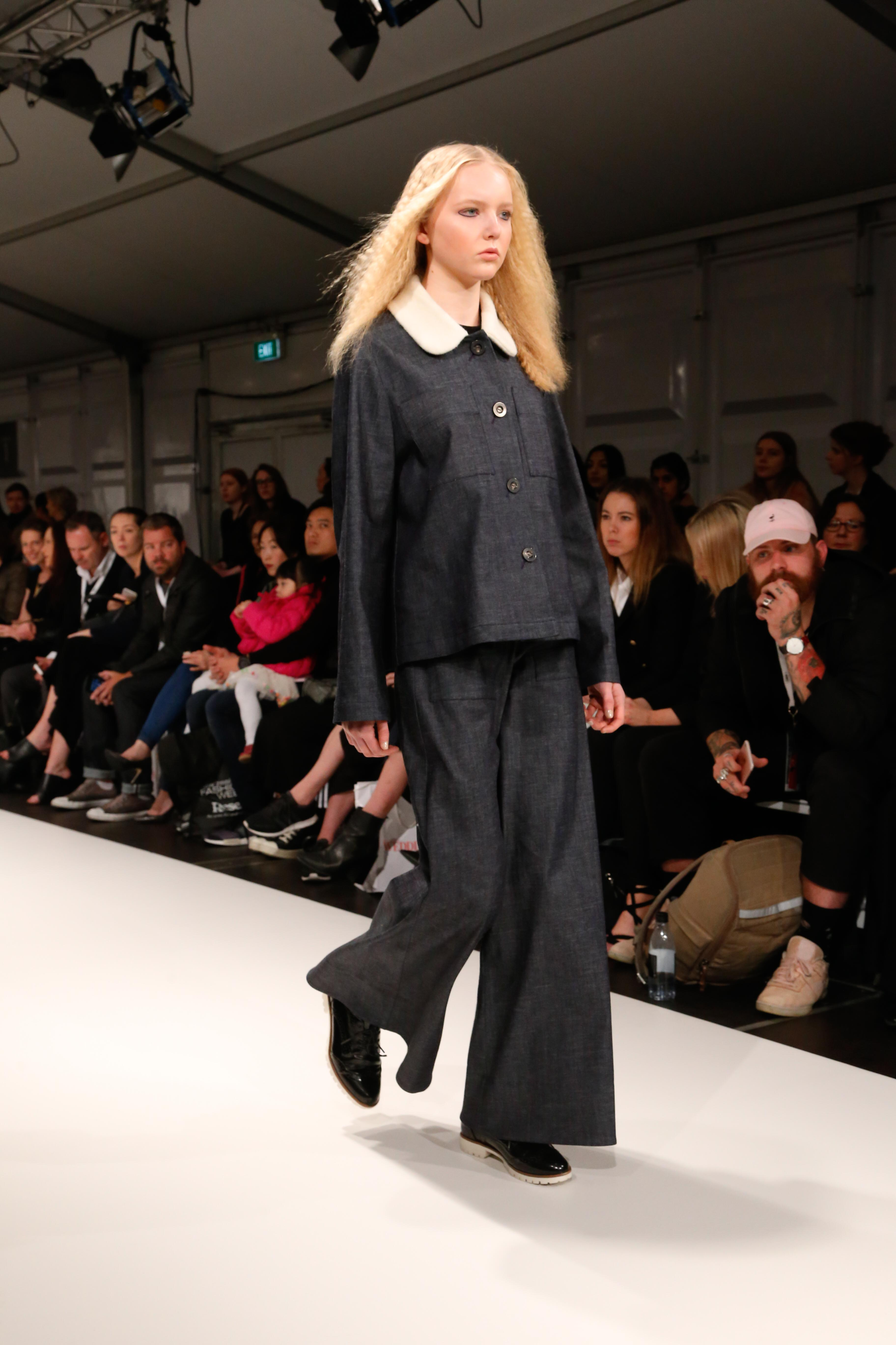 Libby walks the Lucilla Gray Show at NZFW