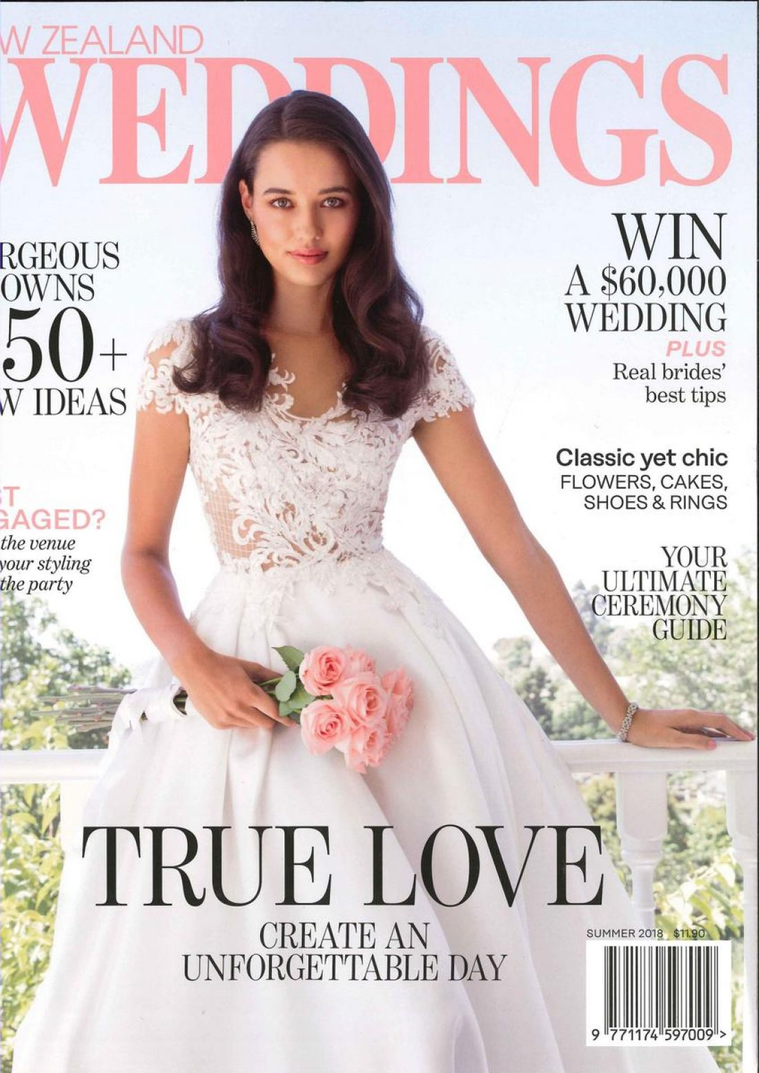 Zoe Stowers photographed by Carolyn Haslett for the Cover of New Zealand Weddings Magazine