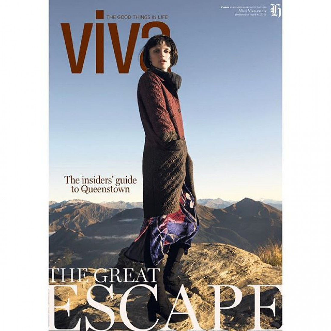 Eva photographed for NZ Viva by Guy Coombes:Styling Dan Ahwa: Makeup Shirley Simpson: Assist: Danielle Clausen