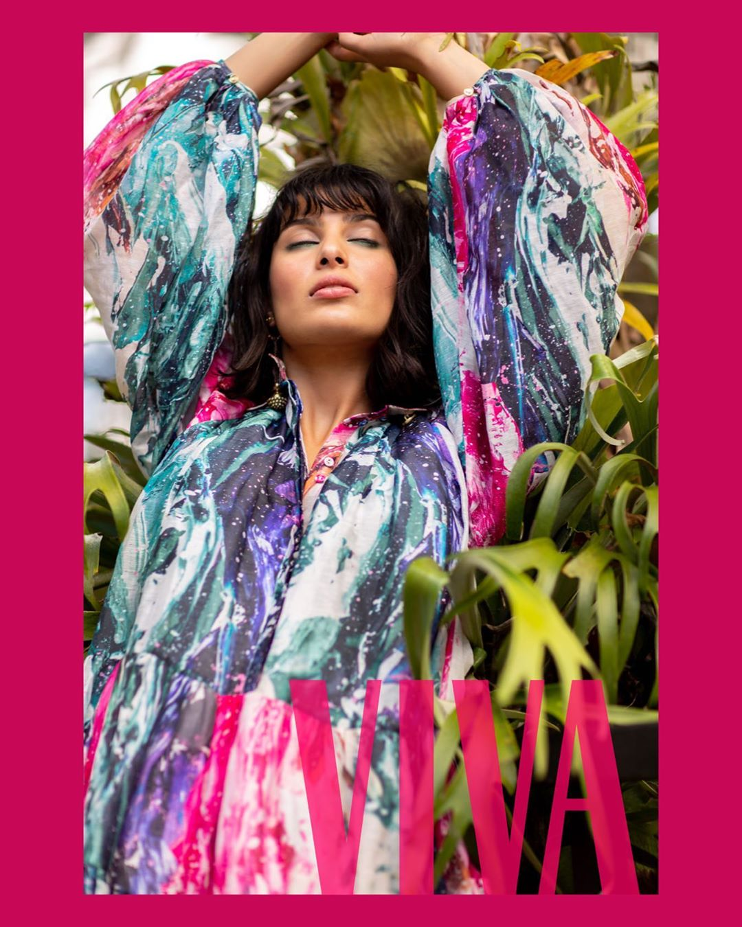 Ria photographed for Viva Magazine by Babiche Martens in Aje Fashion Dan Ahwa
