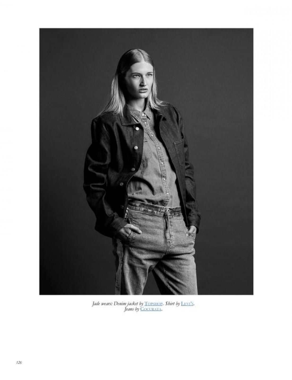 Jade in BLK ON BLK #4 shot by Damien Nikora