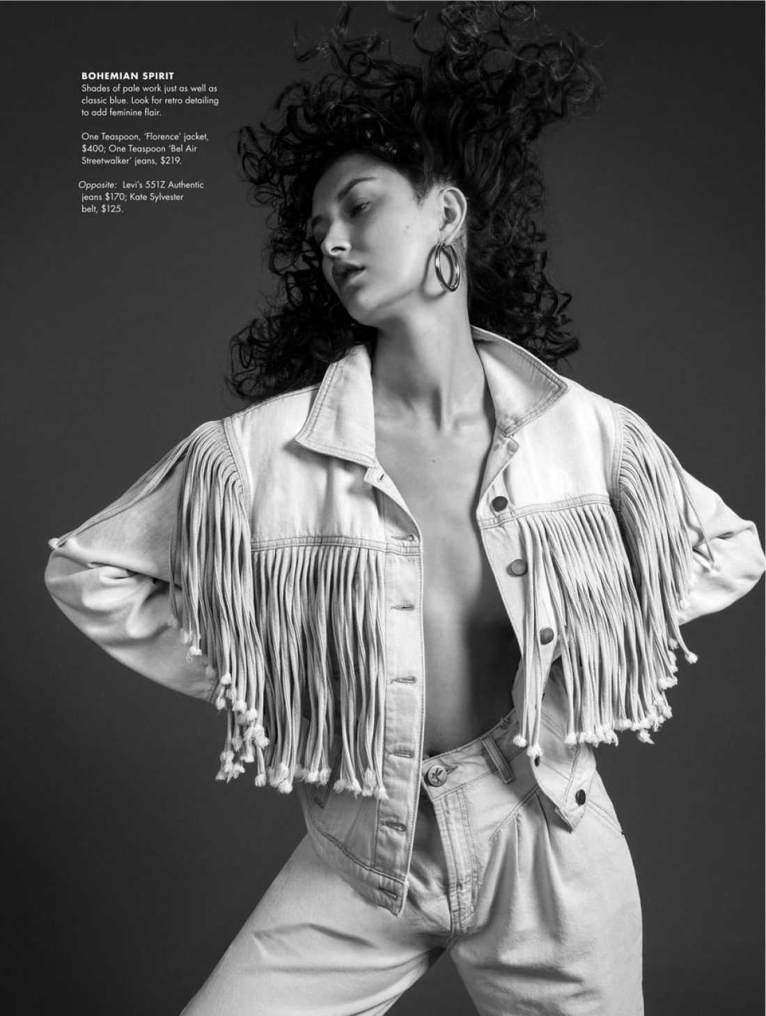 Ella photographed for Style Magazine by Guy Coombes: Styling Rachel Morton, Hair: Danny Pato, Mua: Leisa Welch