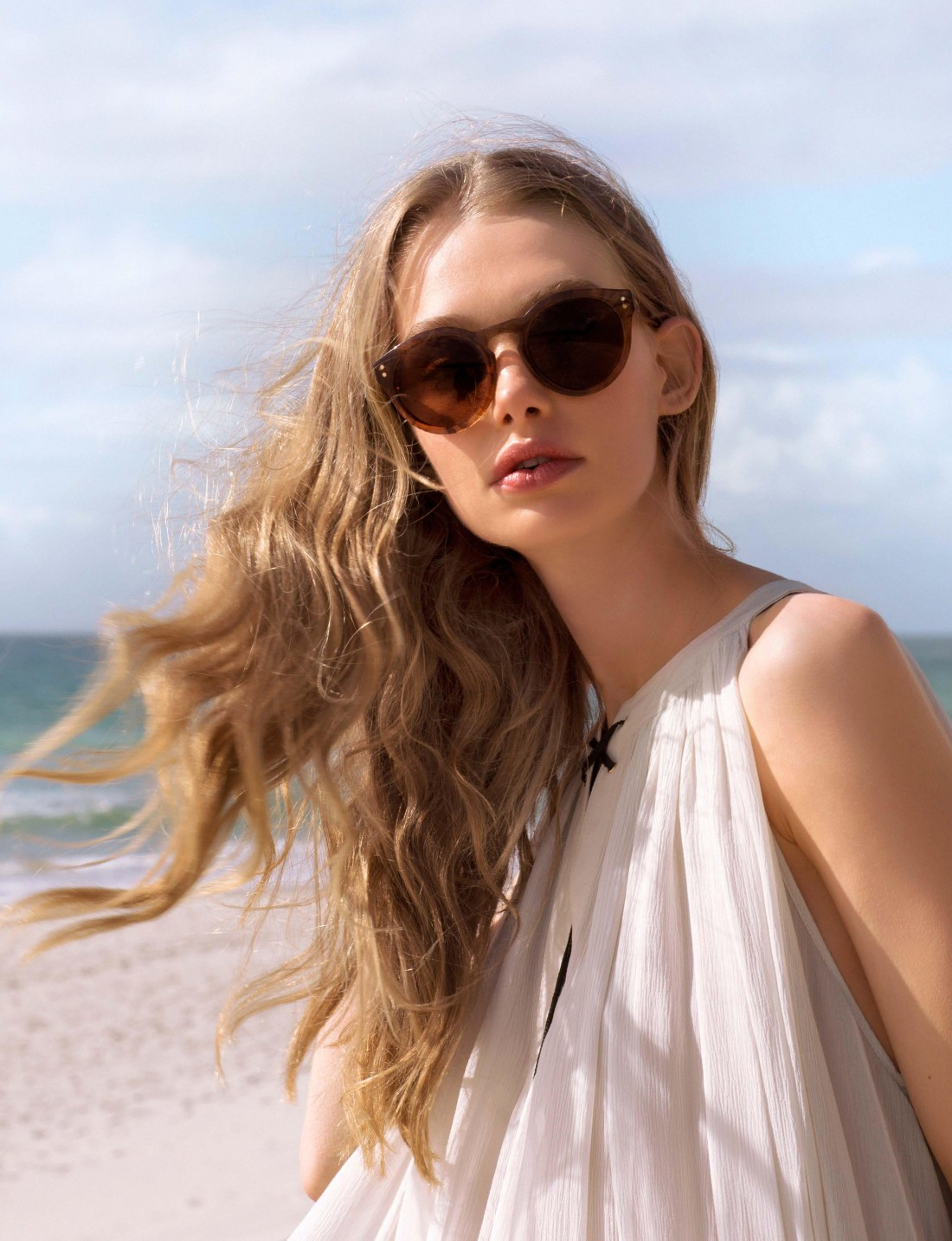 Marnie Harris for Kate Sylvester Eyewear shot by Greta Van der Starr