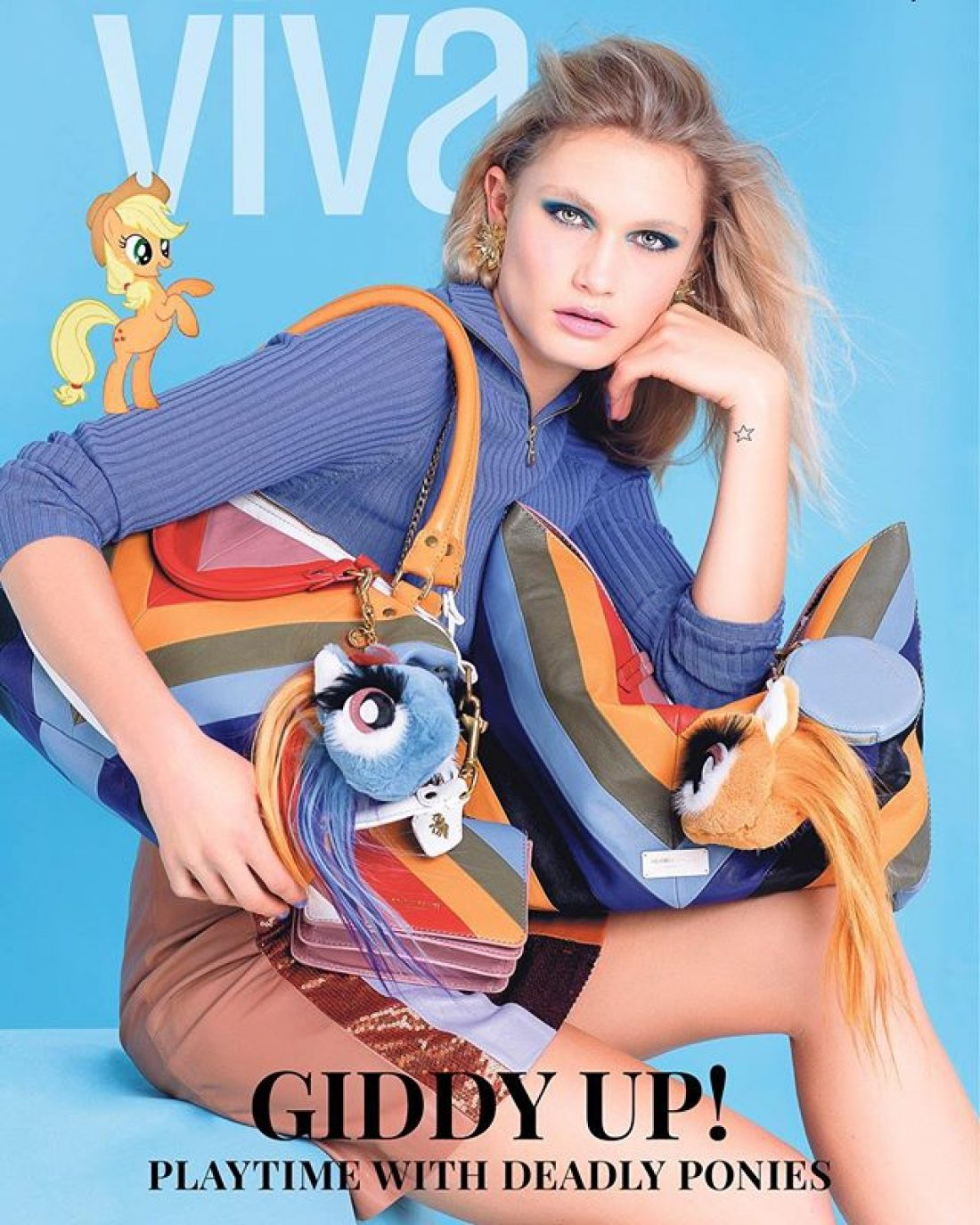 Polly photographed by Babiche Martens for the Cover of Viva Magazine: Styling Dan Ahwa, Mua: Kiekie Stanners using MAC, Hair: Stephen Marr;  Words Zoe Walker; featuring Deadly Ponies