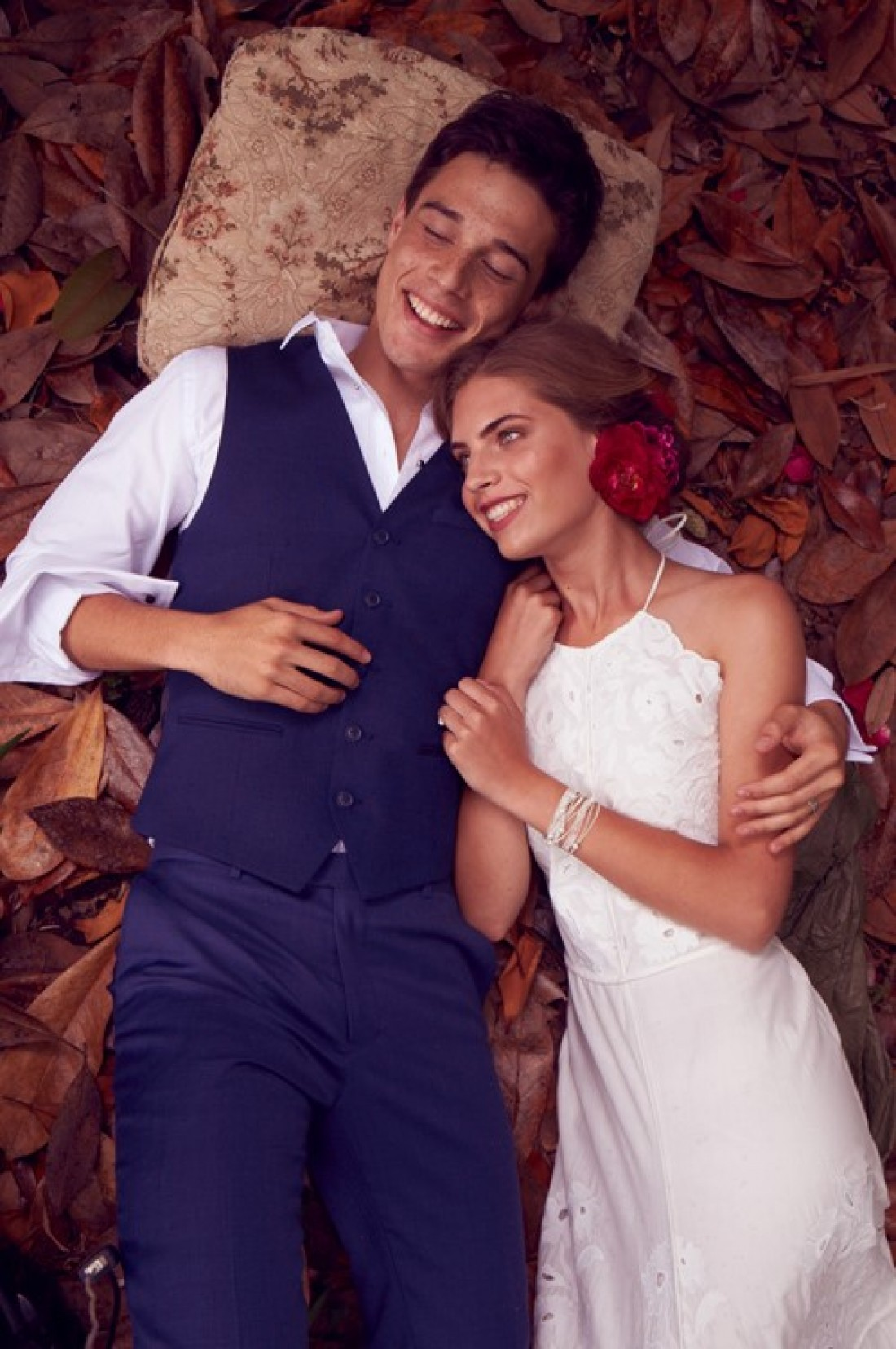 Bernie & Sean photographed by Steve Tilley for New Zealand Weddings Magazine : Styling by Ana Macdonald